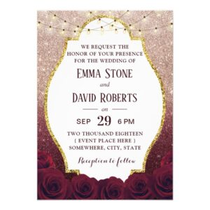Burgundy & Rose Gold Glitter Ombre Weddings