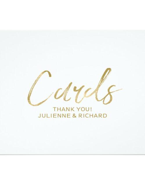 Golden Stylish Wedding Signs