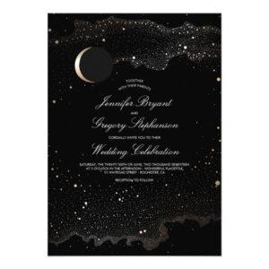 Crescent Moon and Nights Stars