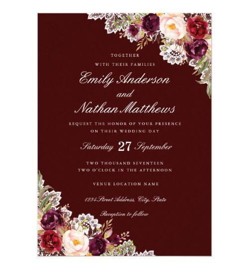 Popular Floral Wedding Invitations on Zazzle