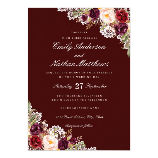 Popular Floral Wedding Invitations On Zazzle Honor And Obey