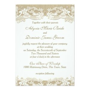 Elegant Country Vintage Rustic Wedding Set