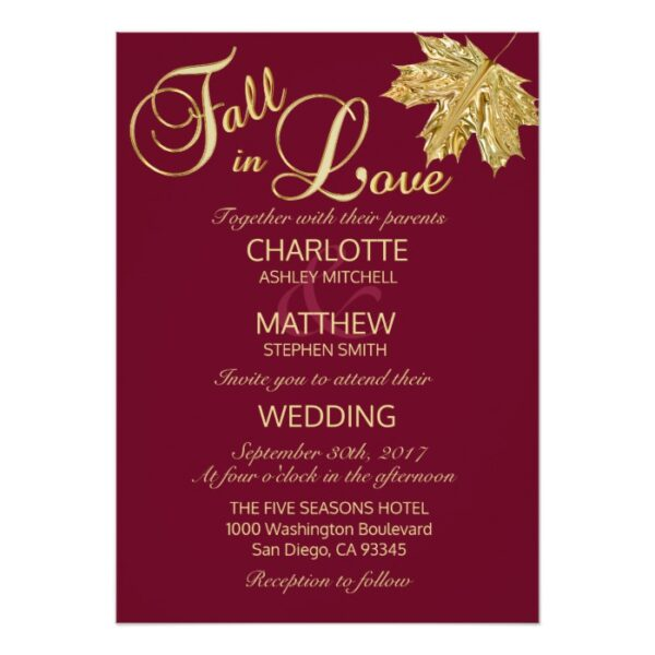 FALL IN LOVE Wedding Collection