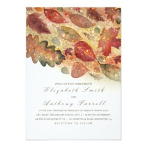 Glitter and Fall Leaves