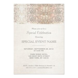 Trendy Silver Sequin Business Cards
