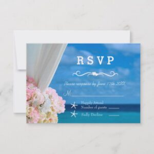 Wedding Set: Elegant Ocean Beach Summer Wedding