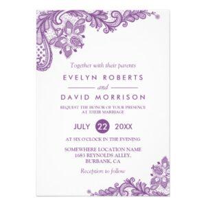 Invitation Suite: Elegant Lavender Purple Lace