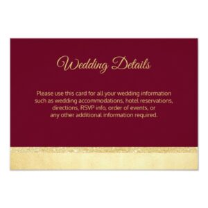 BURGUNDY Gold Wedding Collection