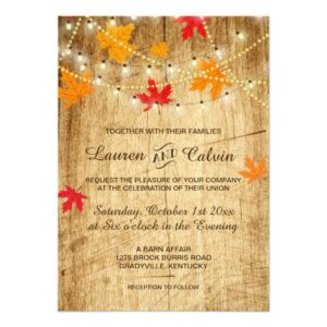 Fall Wedding set with Country Western Style