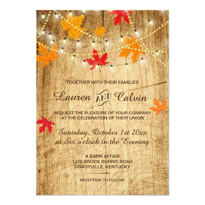 Fall Wedding Set With Country Western Style Honor And Obey