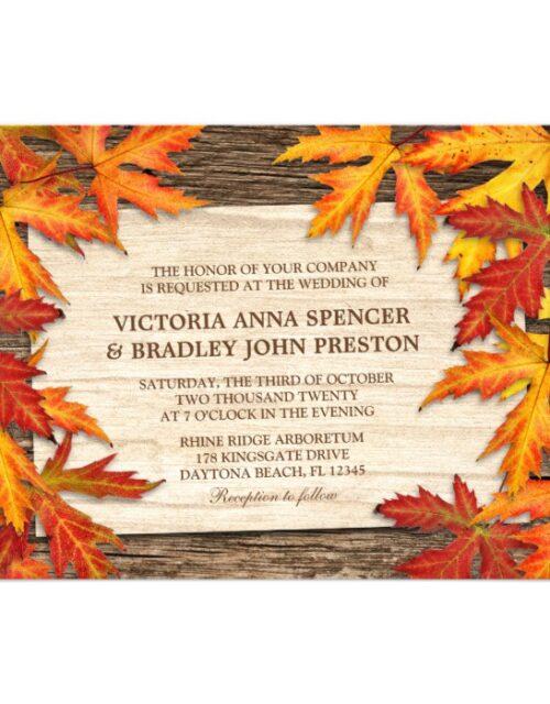 Fall Leaves Wedding Invitation Set