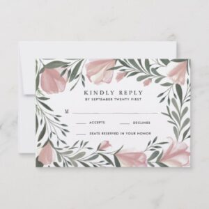 Floral Greenery Vintage Rustic Wedding Invitations
