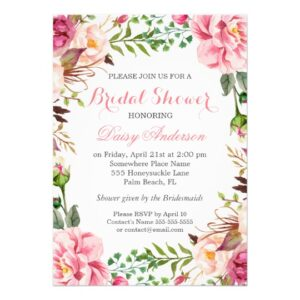 Invitation Suite: Elegant Pink Floral Wrap