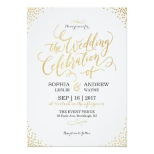 Luxe Gold Glitter Calligraphy Wedding