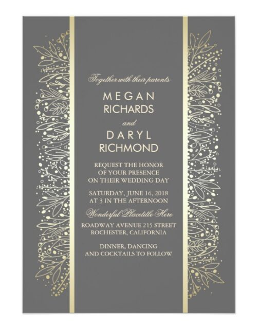 Gold Baby's Breath Vintage Wedding Collection