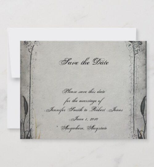 Gothic Black Rose Trellis Wedding