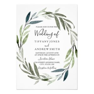 Modern Elegant Wreath Leaf Wedding Collection