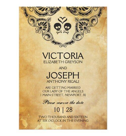 Halloween Gothic Wedding Invitation