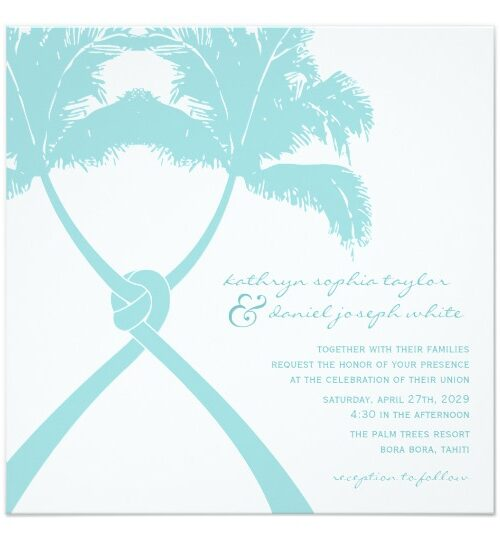 TROPICAL SUMMER KNOTTED PALM TREES WEDDING SUITE