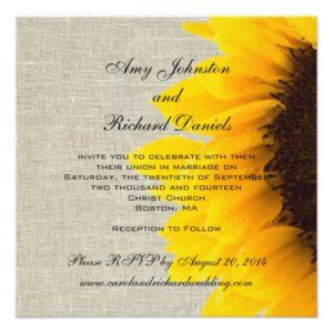 Rustic Wedding Sunflower