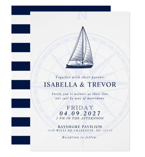 Love Sets Sail | Nautical Wedding