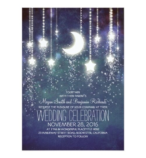 Moon and Stars Enchanted Wedding Collection
