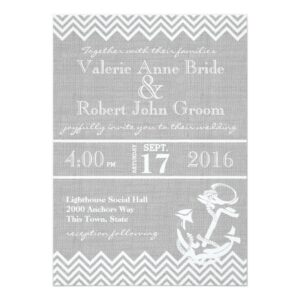 Nautical Grey Anchor Wedding