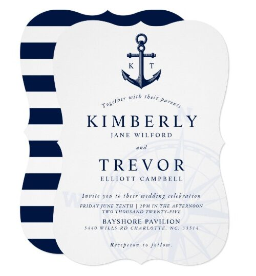 Nautical    Love Drops Anchor   Wedding