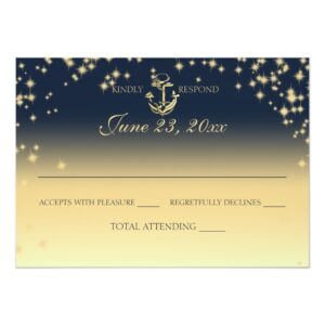 Nautical Anchor and Starry Sky Wedding