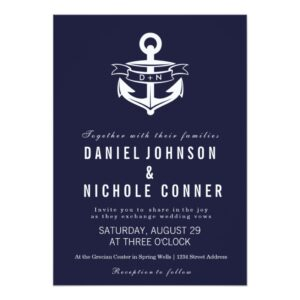 Nautical Theme Wedding