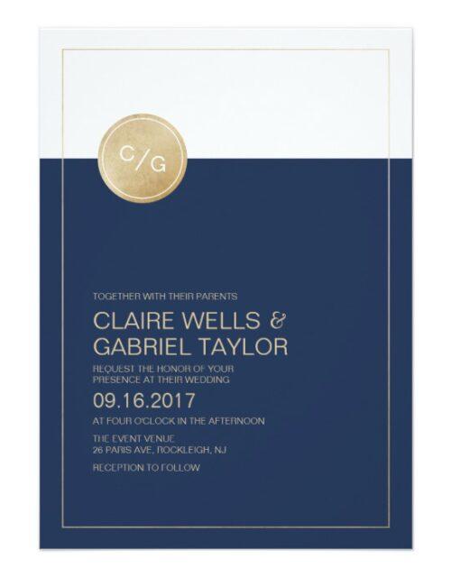 Color Editable Modern Minimalist Wedding Suite
