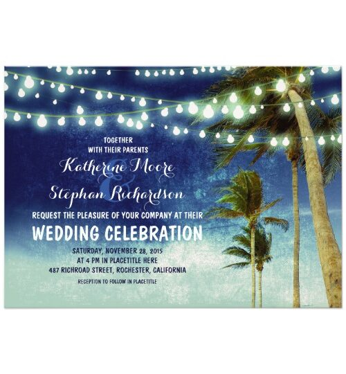 String Lights Palms Beach Wedding Collection