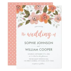 Peach Delicate Floral Celebrations and Weddings
