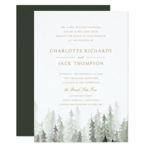 Pine Forest Wedding