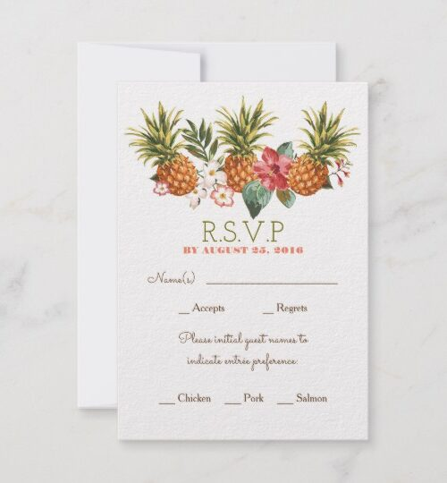 tropical beach pineapples collection