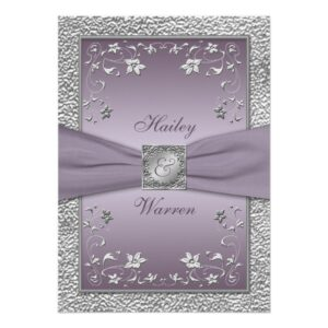 Mauve and Gray Wedding Suite
