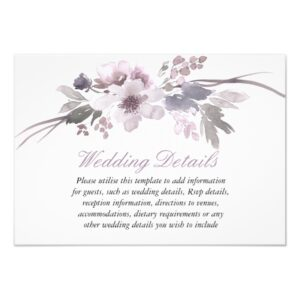 Elegant Purple Gray Winter Wedding