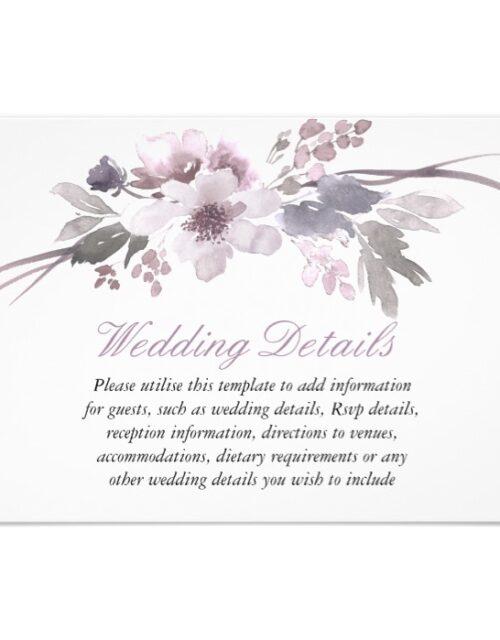 Elegant Purple Gray Winter Wedding