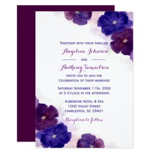 Floral Purple Plum Wedding Collection