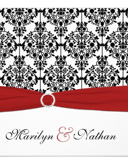 Red, White and Black Damask Wedding Suite