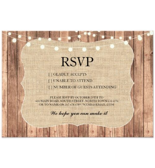 Rustic Wood Burlap Collection