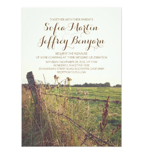 Rural Rustic Fence Wedding Collection