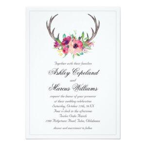Rustic Antlers Boho Floral Allure Wedding