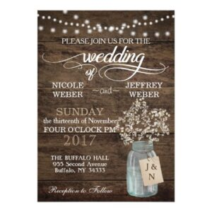Rustic Wood Baby's Breath Barn Wedding Suite