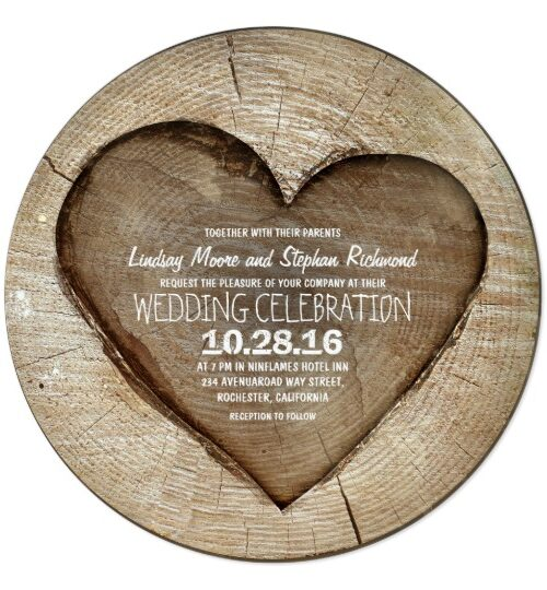 Wood Heart Country Wedding Collection