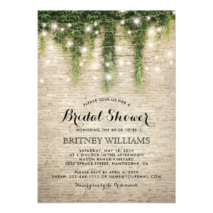 Rustic Chateau Stone Lights Invitation Suite