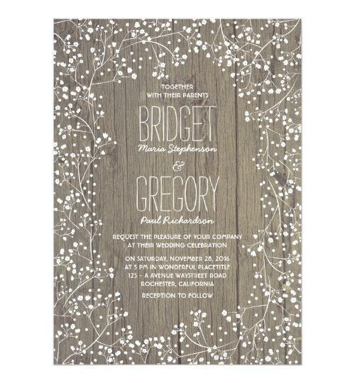Rustic Country Baby's Breath Wedding Collection