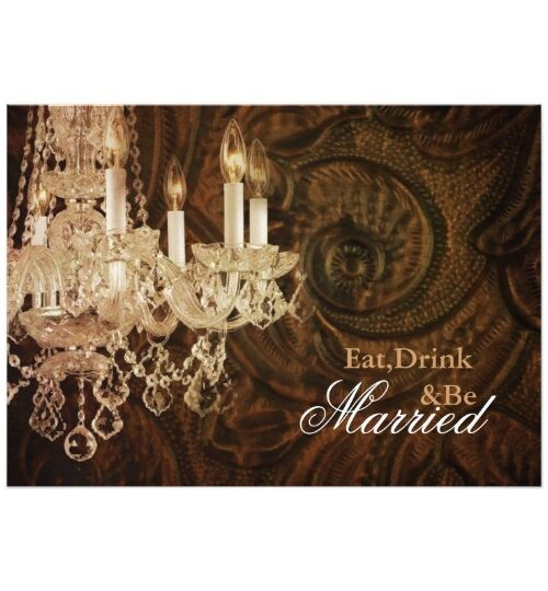 vintage chandelier western country wedding