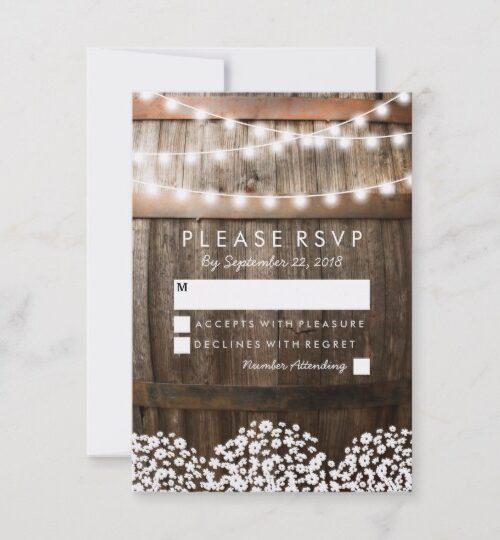 Rustic Baby's Breath Vineyard Invitation Suite