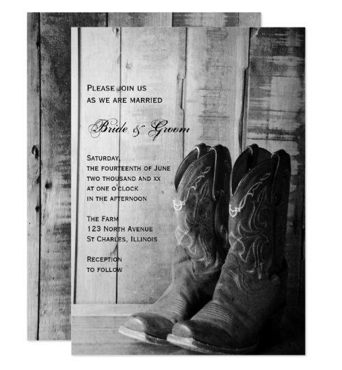 Rustic Cowboy Boots Western Wedding Reception